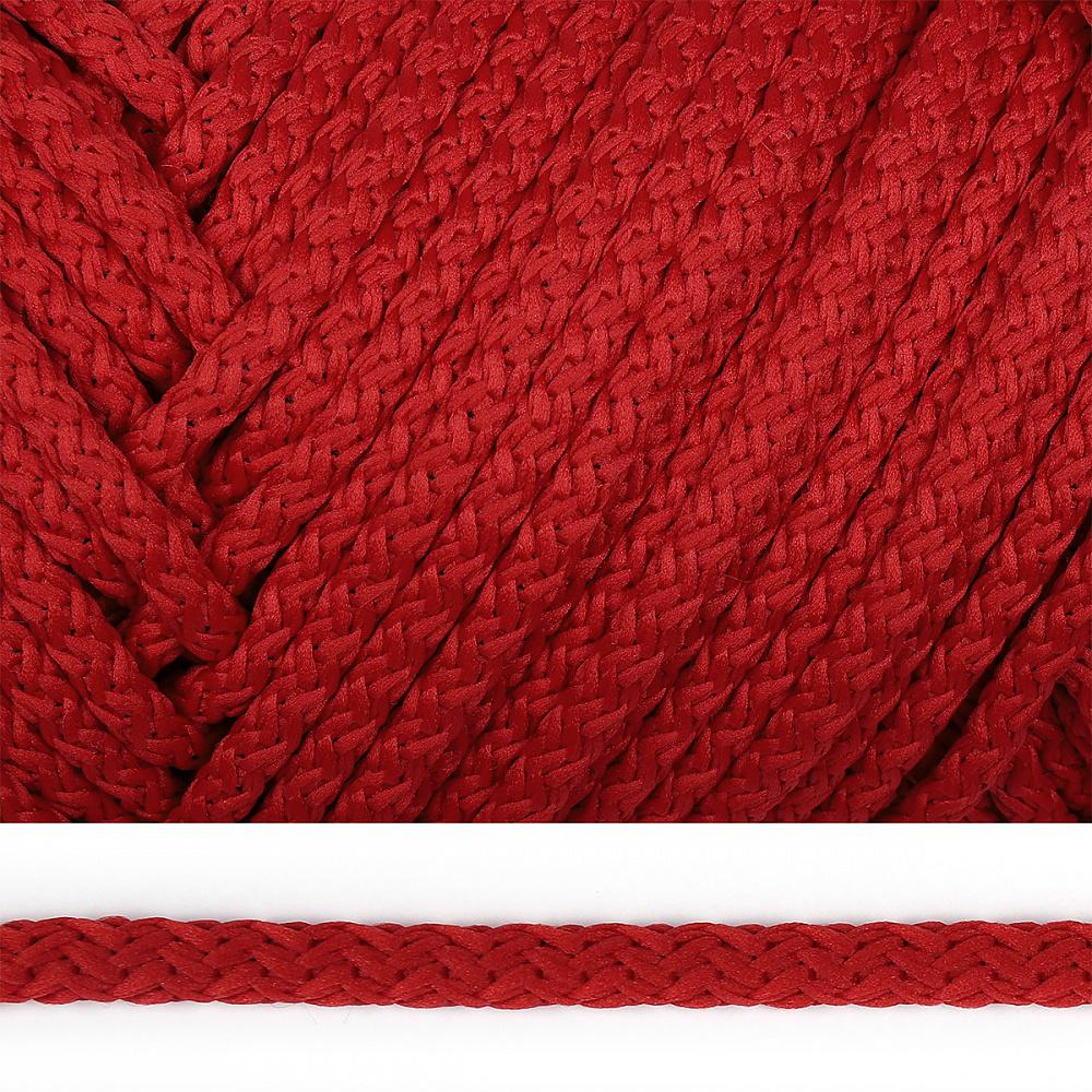 Шнур круглый полиэфир 06мм с наполнителем цв.115 красный уп.100м, ПЭСС6100115
