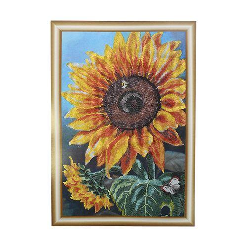 БН-3122 Набор для вышивания бисером Hobby&Pro 'Цветок солнца' 25*39см