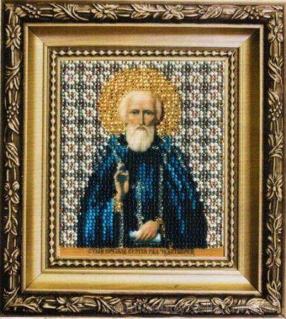 Б-1154 Набор для вышивания бисером 'Чарівна Мить' 'Икона святой преподобный Сергий Радонежский', 9*11 см