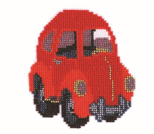 Б-0030 Набор для вышивания бисером 'Бисеринка' 'Машинка', 11*12 см