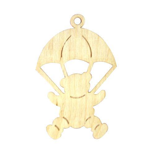 Деревянная заготовка Подвеска Мишка с парашютом 10*7см (L-160) Астра