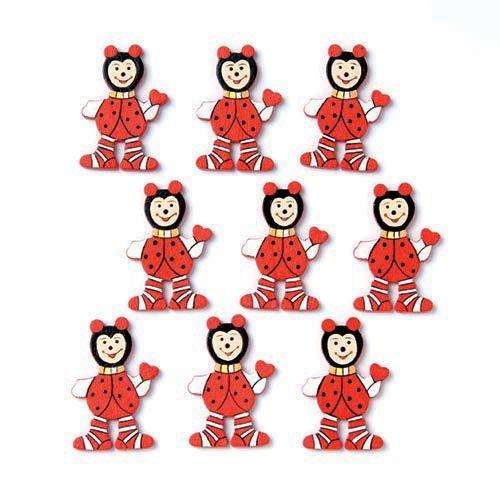61710017 Фигурки из дерева 'Божьи коровки', 35 мм, упак./9 шт., Glorex