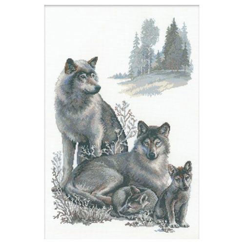 100/021 Набор для вышивания Riolis 'Волки', 40*60 см