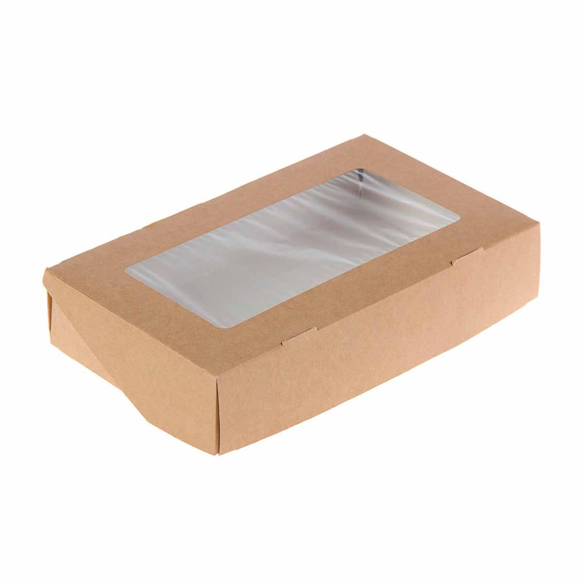 1358899 Коробка упаковочная с окном 20*12*4 см, 1 л