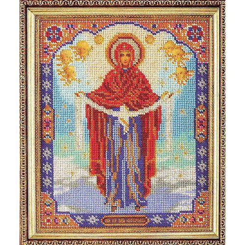 В174 Набор для вышивания бисером 'Кроше' 'Богородица Покрова', 20x25 см