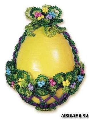 Б015 Набор для бисероплетения Riolis 'Яйцо корзинка', 5*7 см