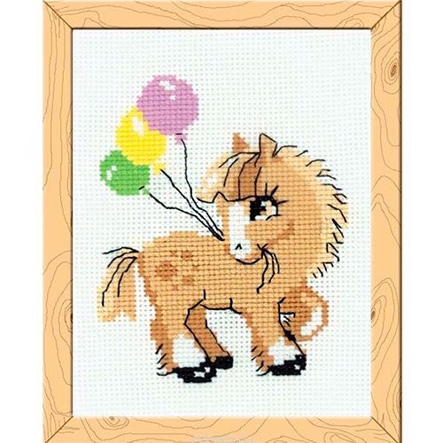 НВ-093 Набор для вышивания Riolis 'Пони Пончик', 15*18 см
