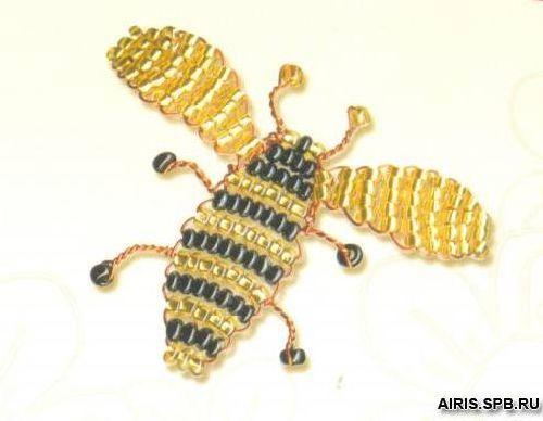 Б026 Набор для бисероплетения Riolis 'Пчела', 3*4 см