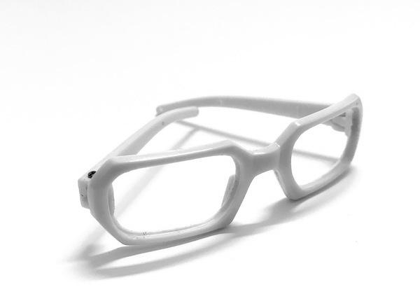 26199 Очки без стекла , пластик, прямоугольные, 7,5 см , 1шт цв.белый
