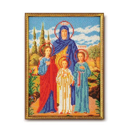 В179 Набор для вышивания бисером 'Кроше' 'Вера, Надежда, Любовь', 19x26 см