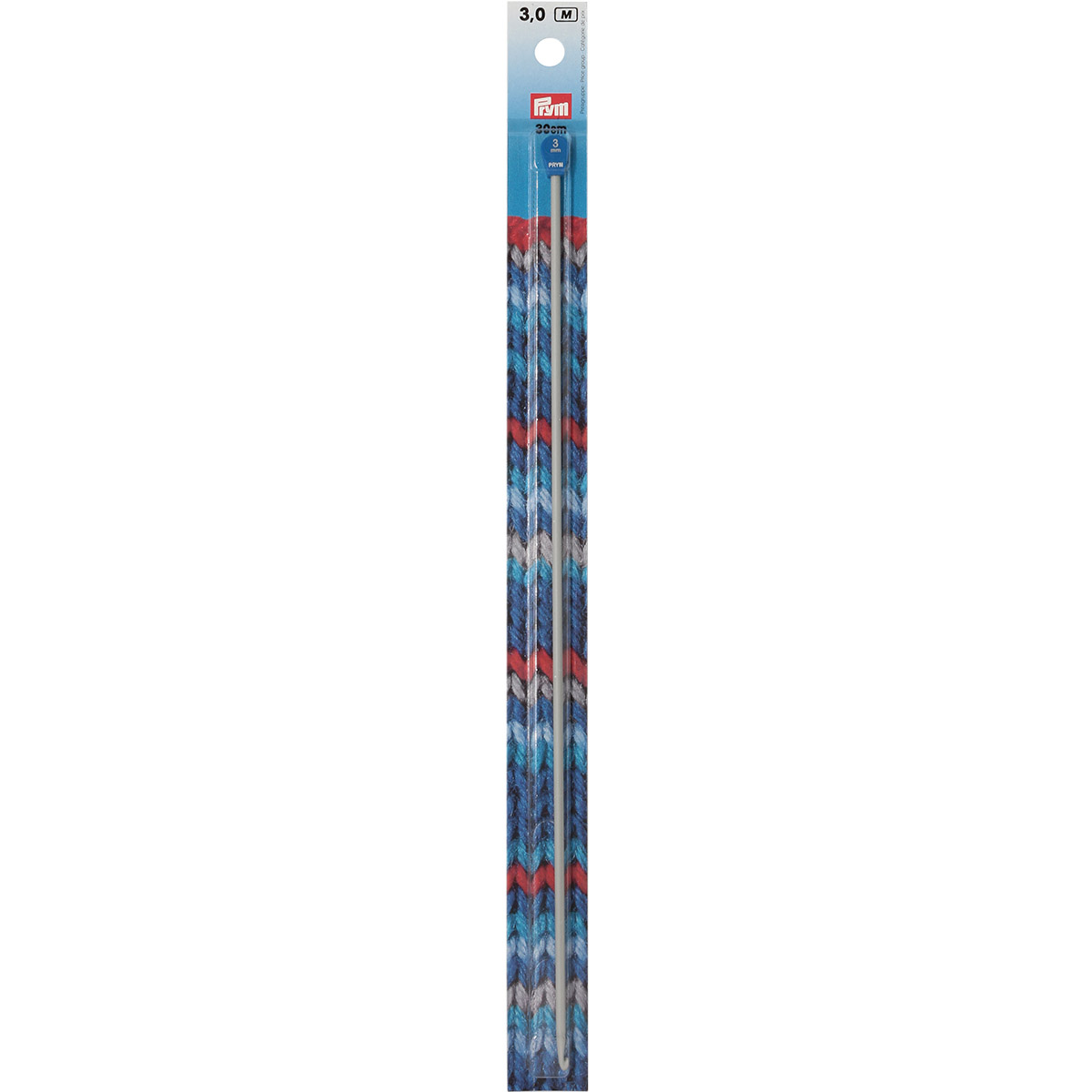195215 Крючок для вязания тунисский, 3 мм*30 см, Prym