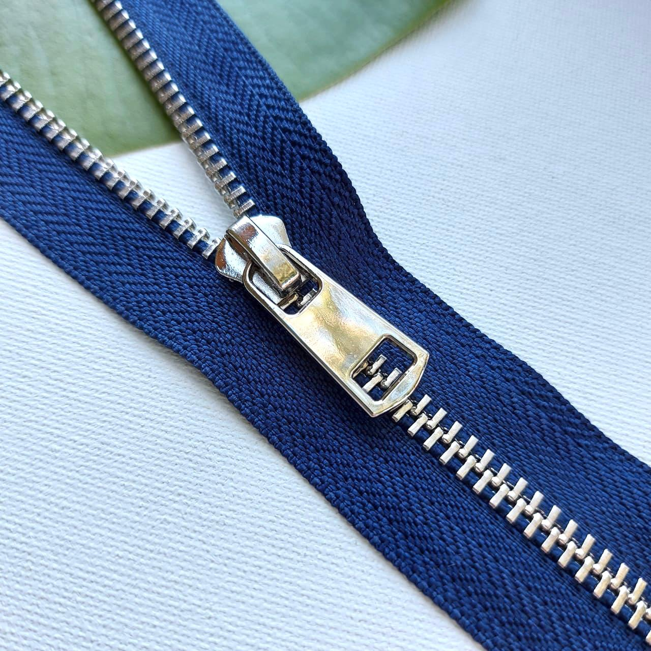 Молния металл №5ТТ никель н/р 18см D919 морской синий, 2002001723344