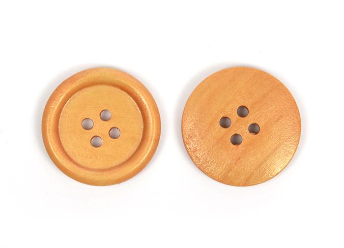 Пуговицы деревянные TBY BT.WD.924 цв.оранжевый 40L-25мм, 4 прокола, 20 шт, BTWD92440