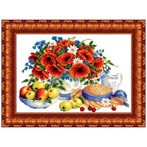 кткн144(р) Набор для вышивания Каролинка 'Летние дары'23х30 см