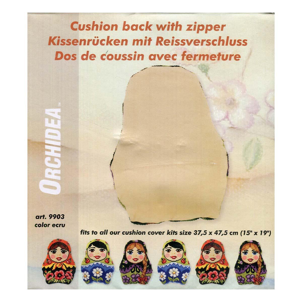 9903 ORCHIDEA Обратная сторона фигурной подушки, 37,5*47,5 см, цвет бежевый