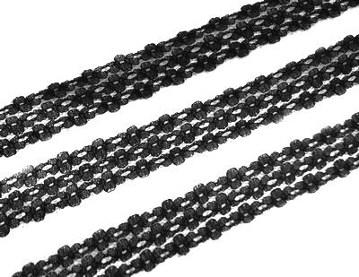 26704 Кружево капрон 136, 2,5 см 20м, 100% п/э,цв.чёрн.