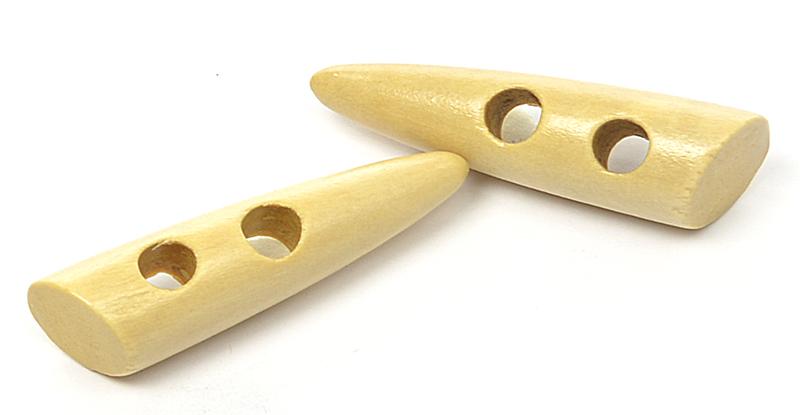 Пуговицы деревянные TBY BT.WD.044 цв.001 натуральный 95L-60мм, 2 прокола, 20 шт, BTWD04401