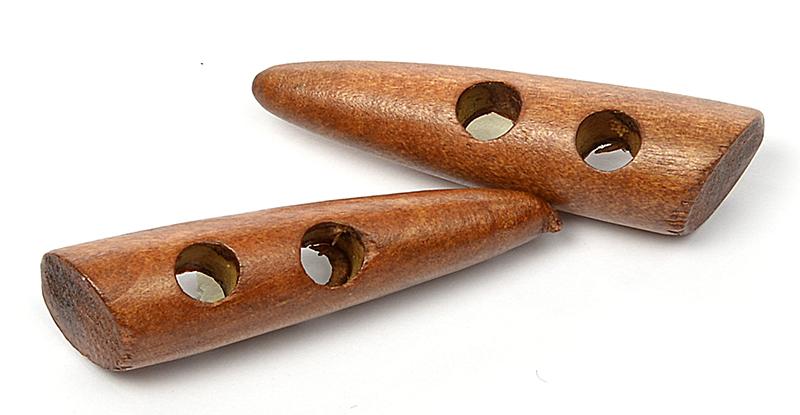 Пуговицы деревянные TBY BT.WD.044 цв.002 коричневый 95L-60мм, 2 прокола, 20 шт, BTWD04402