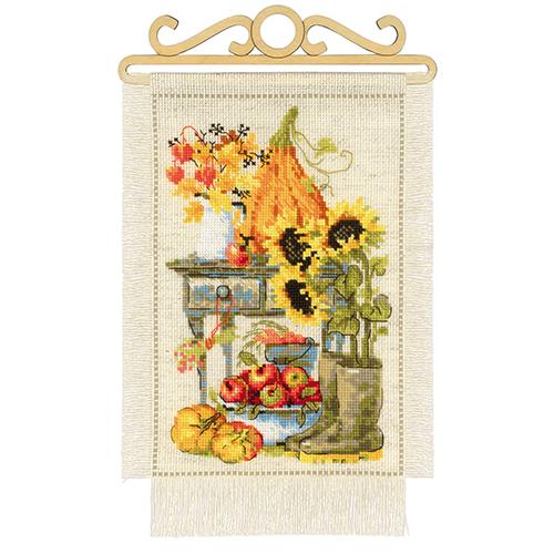 1657 Набор для вышивания Риолис 'Дача. Осень' 20*30 см