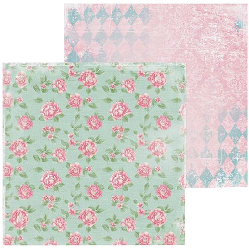 1561846 Бумага для скрапбукинга 'Розовые бутоны' 15,5 х 15,5 см 180 г/м