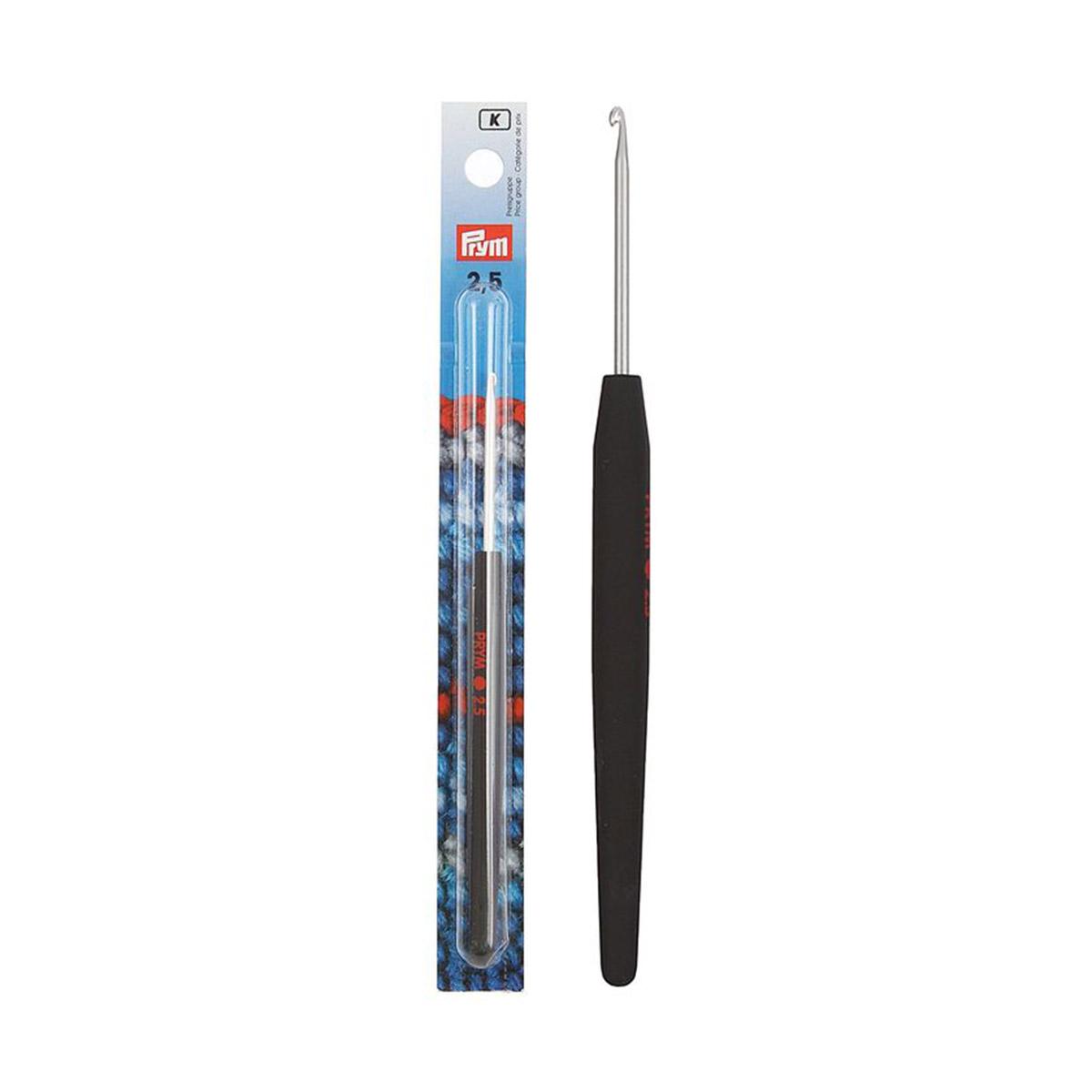 195173 Крючок SOFT вязальный с мягкой ручкой, алюм. 2,5 * 14 Prym