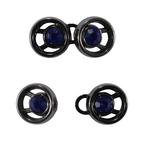 ГХН14580 Крючок 10*21мм черный никель/сапфир цв.935