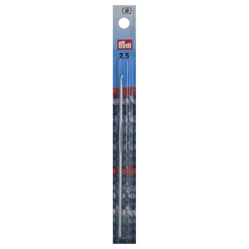 195182 Крючок для вязания, алюминий, 2,5 мм* 14 см, Prym