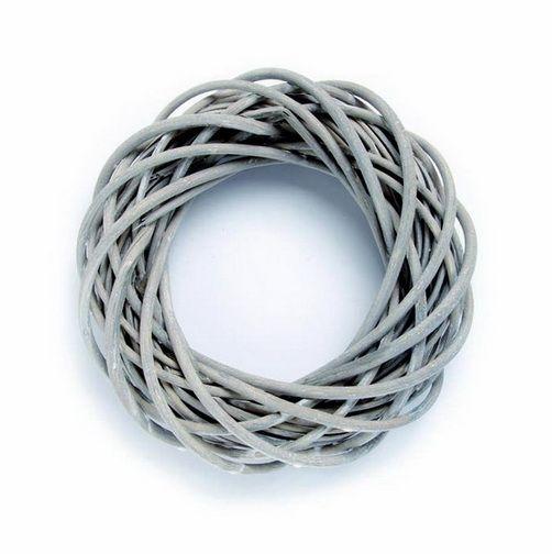 67026061 Венок из ивовых прутьев, серый, d 15см Glorex