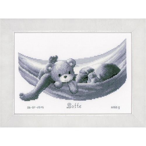 PN-0150906 Набор для вышивания Vervaco 'Малыш в гамаке' 27x19см
