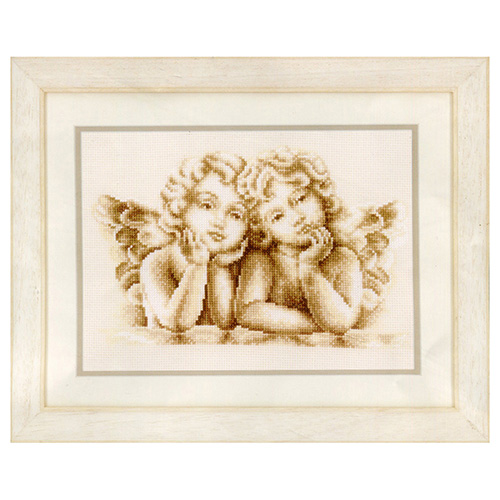 PN-0146042 Набор для вышивания Vervaco 'Мечтающие ангелочки' 25x18см