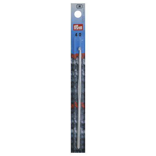 195185 Крючок вязания, алюминий, 4 мм*14 см, Prym