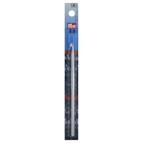 195187 Крючок для вязания, алюминий, 5 мм*14 см, Prym