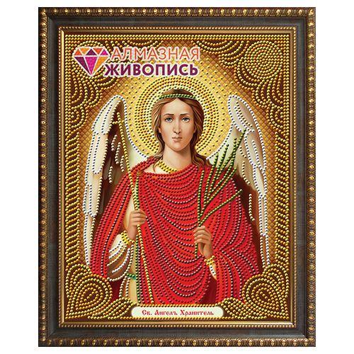 АЖ-5013 Картина стразами 'Ангел хранитель' 22*28см