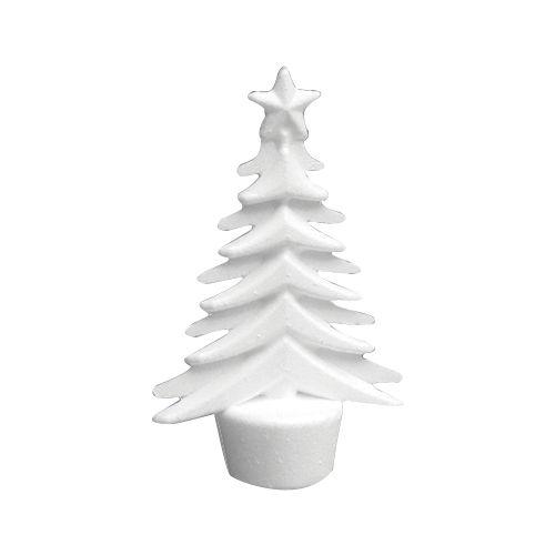 Заготовка для декорирования из пенопласта 'Рождественская елка (подвеска)', h 15*9см