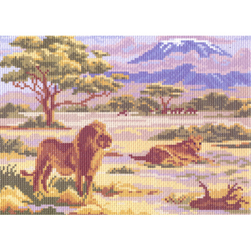 0054 Канва с рисунком Матренин посад 'Львы' 24*30см
