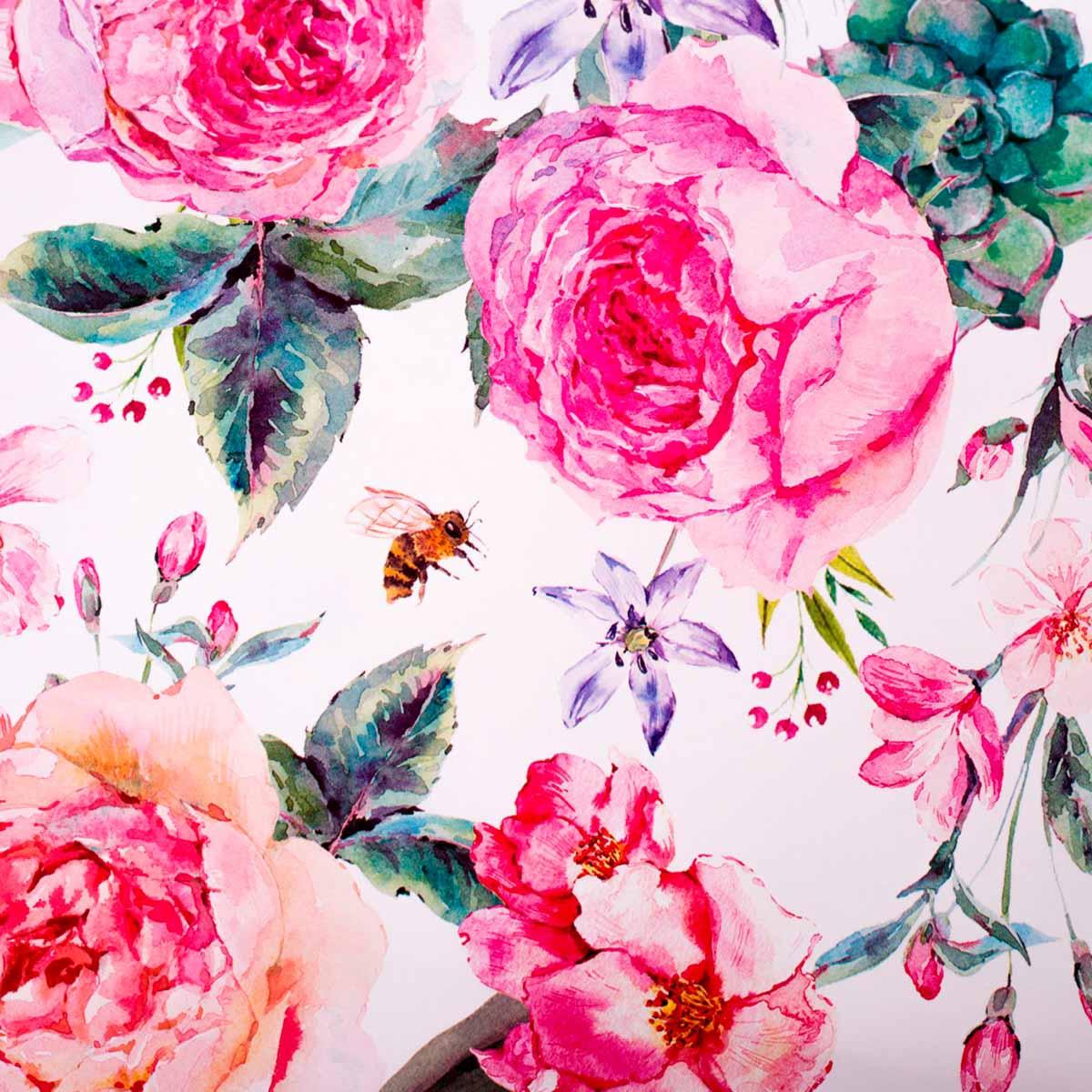 2505168 Бумага упаковочная глянцевая «Летние цветы», 70*100 см