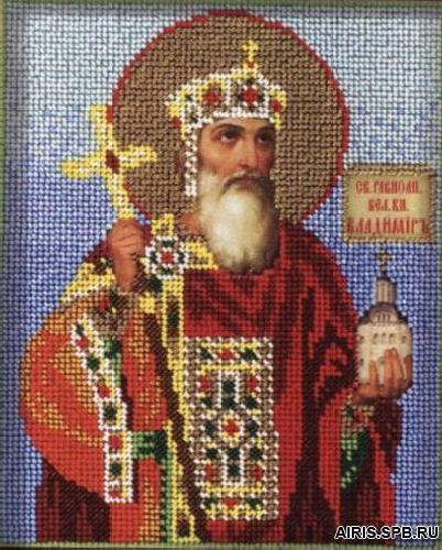 В319 Набор для вышивания бисером 'Кроше' 'Св. Владимир', 12х14,5 см