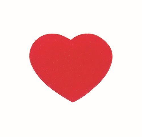 61212852 Сердца бархатные, красный, 4 см, упак./8 шт., Glorex