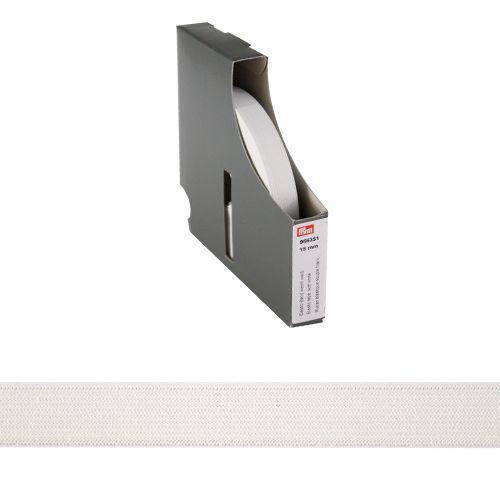 955351 Мягкая эластичная лента 15 мм белый цв. 10 м Prym