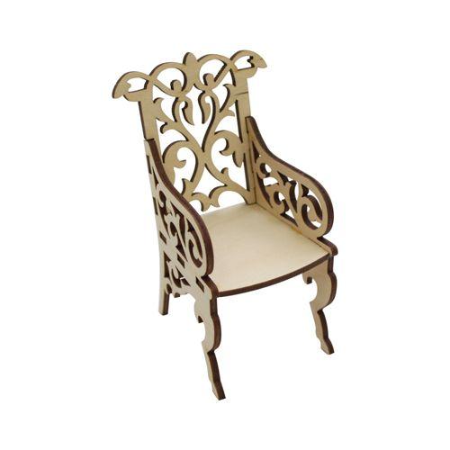 L-487 Деревянная заготовка 'Кресло резное', 7*6,5 см, 'Астра'