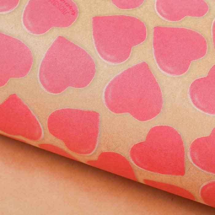 2874675 Бумага упаковочная крафтовая «Любви и вкусняшек», 50 × 70 см