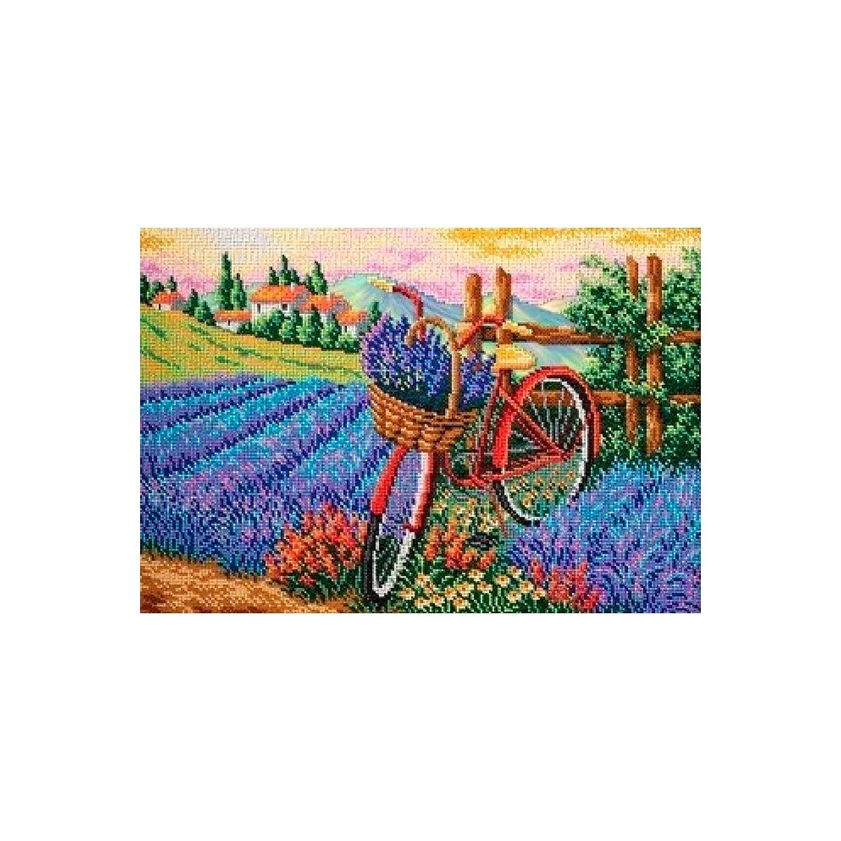 В288 Набор для вышивания бисером Кроше 'Запах лаванды'38х27см
