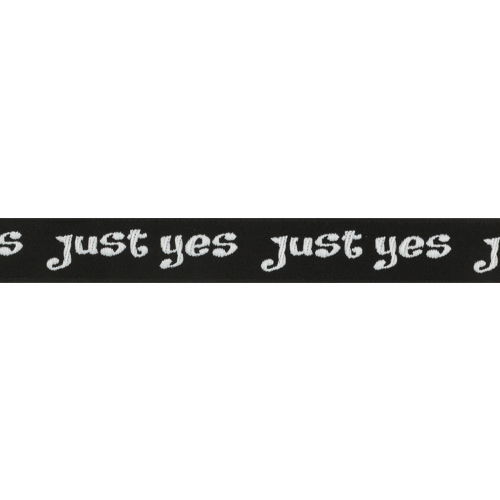 Лента отделочная с надписью 'Just yes' 20мм*20м