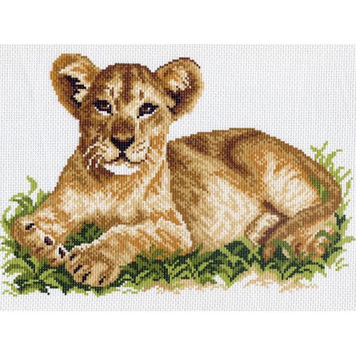 0593 Канва с рисунком Матренин посад 'Львёнок' 24*35см