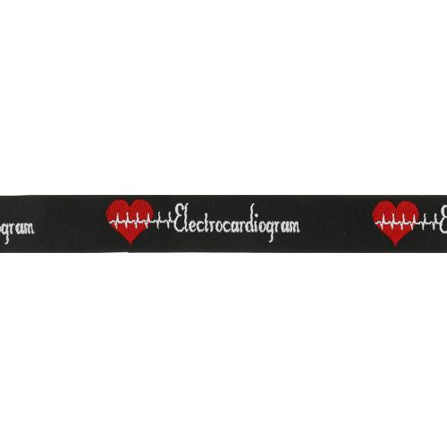 Лента отделочная с надписью 'Electrocardiogram' 22мм*20м