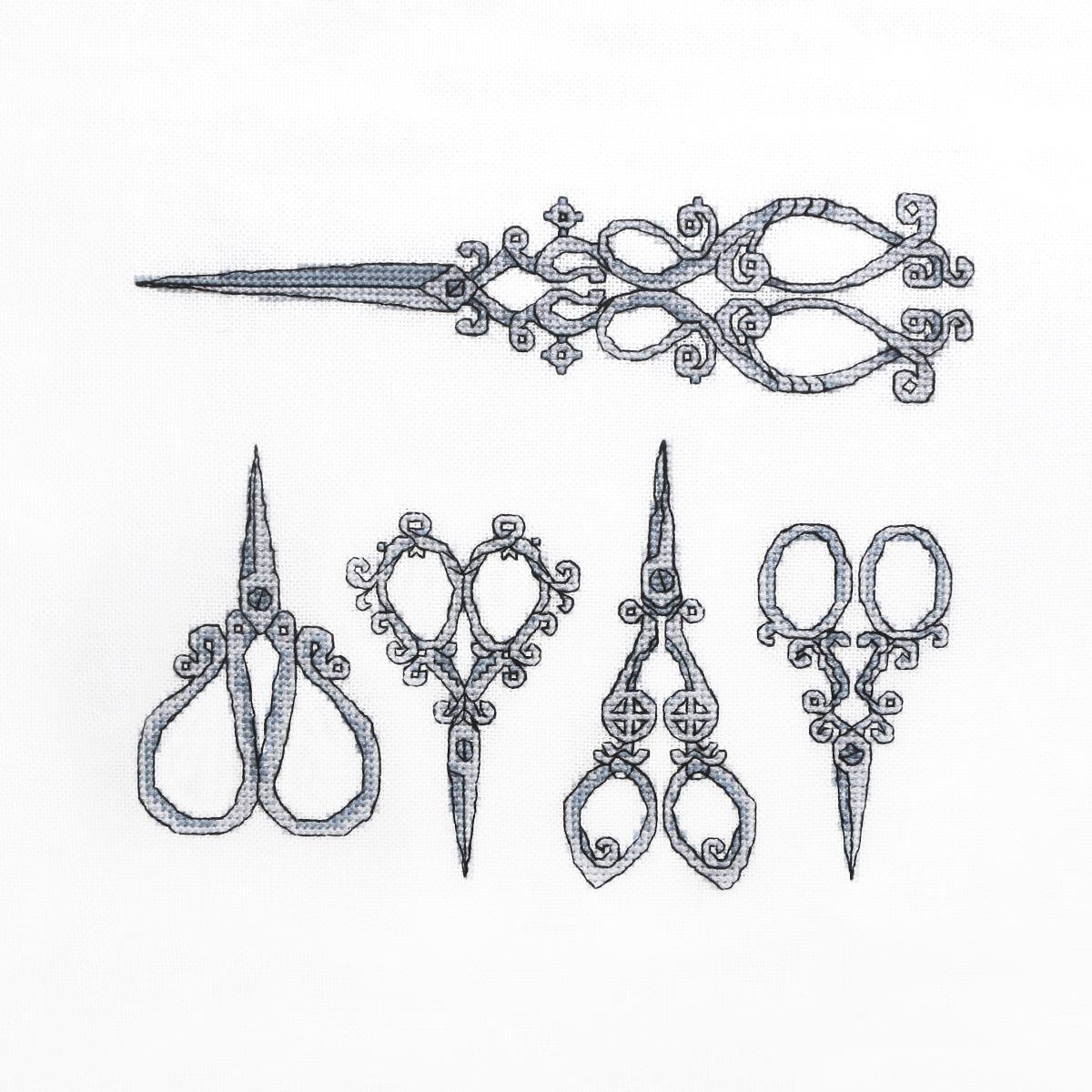 А-972 Набор для вышивания Hobby&Pro 'Ножницы' 17,5*14,5см