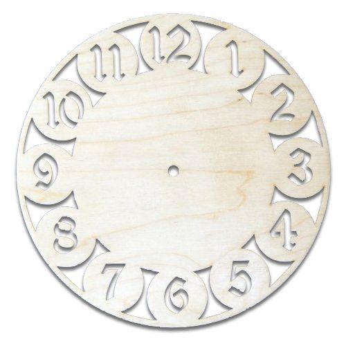Деревянная заготовка Часы 23*23см 4мм (L-20) Астра