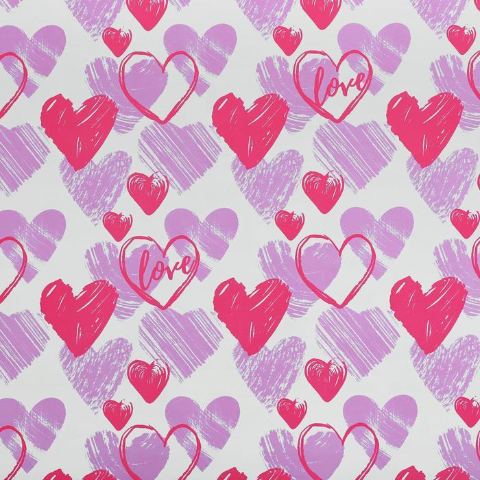 3949123 Бумага упаковочная крафтовая Love , 50 × 70 см