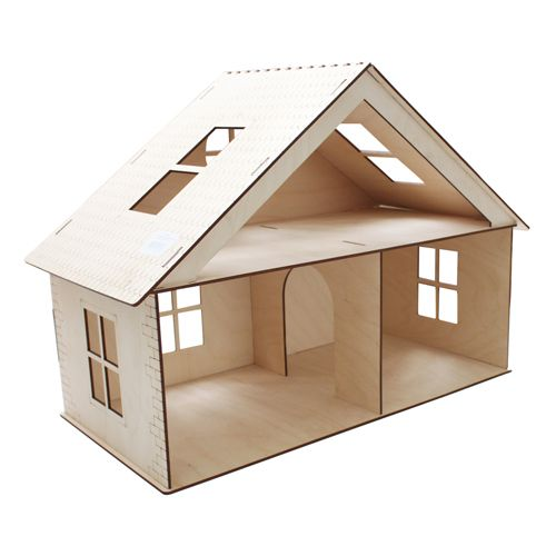 L-517 Деревянная заготовка 'Дом с мансардой', 32*42*22,5 см, 'Астра'