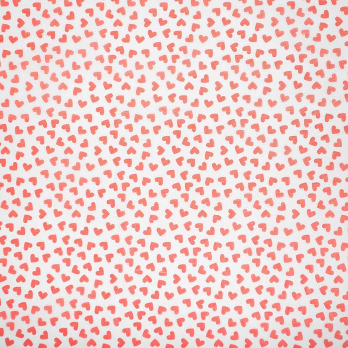 3958438 Бумага упаковочная тишью Little hearts, 50 × 70 см